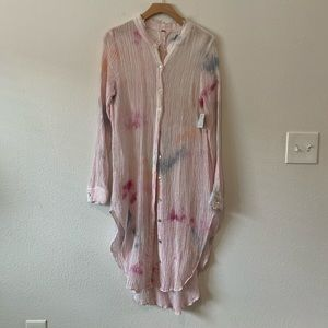 Free People🌈 tie-dyed button-up